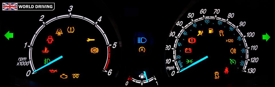 Car Driving Signs >> Dashboard warning lights and indicators - World Driving