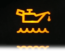 Oil change warning light on a Ford Fiesta
