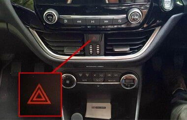 Ford Fiesta hazard warning lights