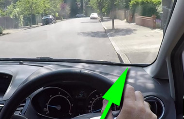 Reference point for pulling up on the right hand-side of the road