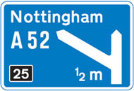 theory test quiz roadsign
