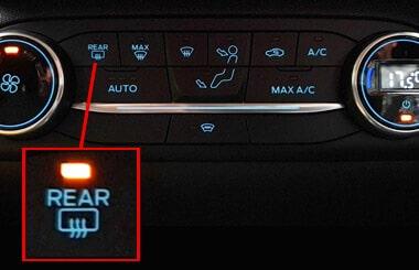 Ford Fiesta rear demister button