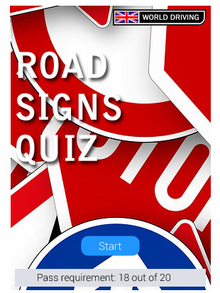 Road Signs Quiz >> 2019 Uk Traffic Road Signs Quiz World Driving